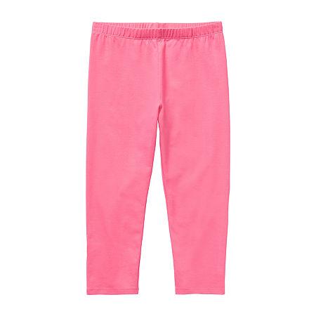 Arizona Little & Big Girls Capri Legging, Medium (10-12) , Pink
