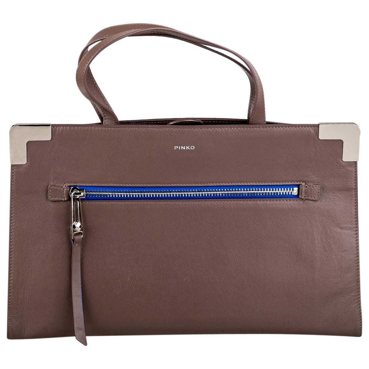 Pinko \N Brown Leather handbag for Women \N