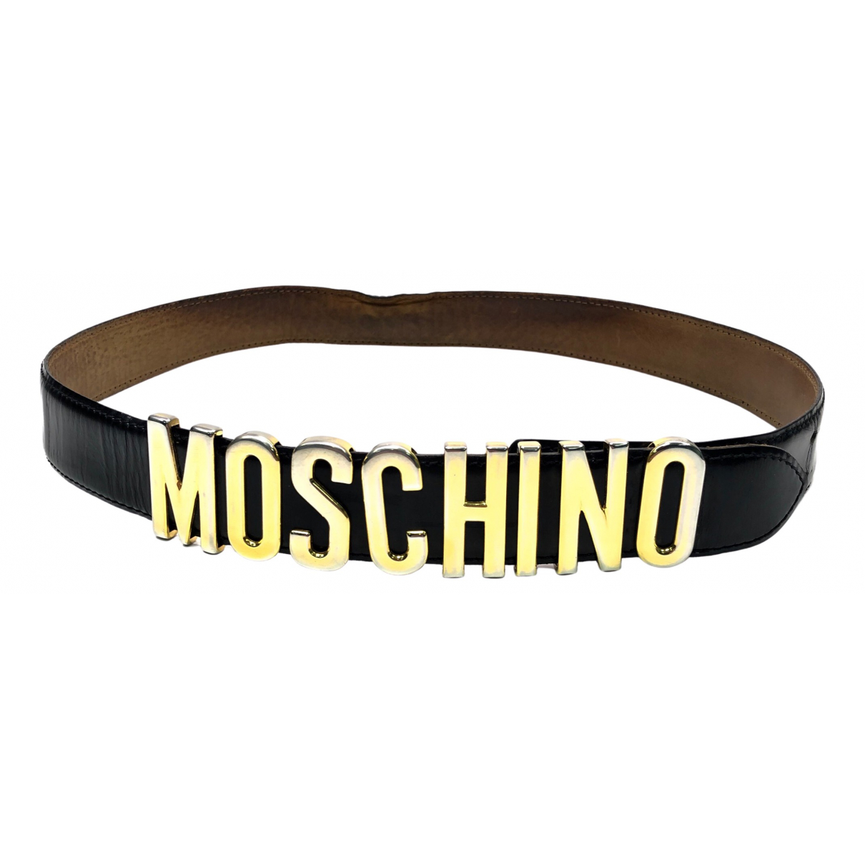 Cinturon de Cuero Moschino