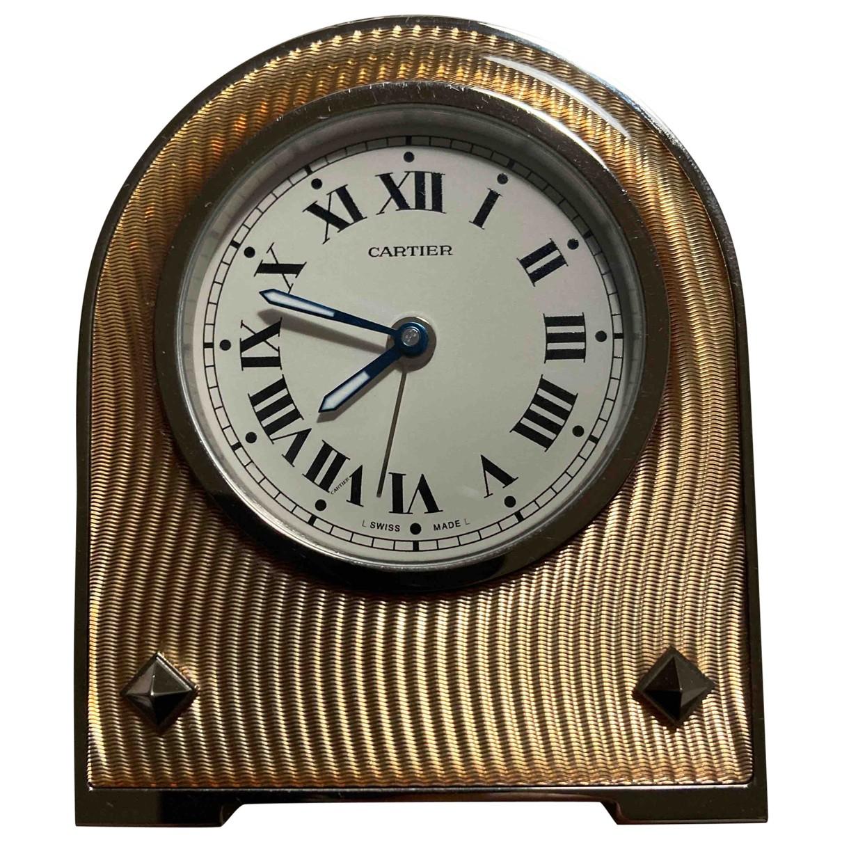 Cartier \N Uhr in  Rosa Stahl