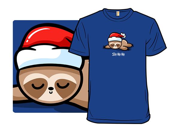Santa Sloth T Shirt