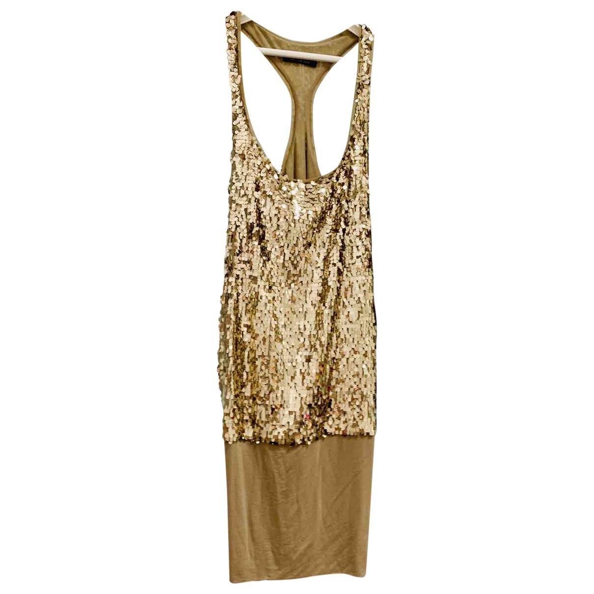 Patrizia Pepe \N Gold Glitter dress for Women 40 IT