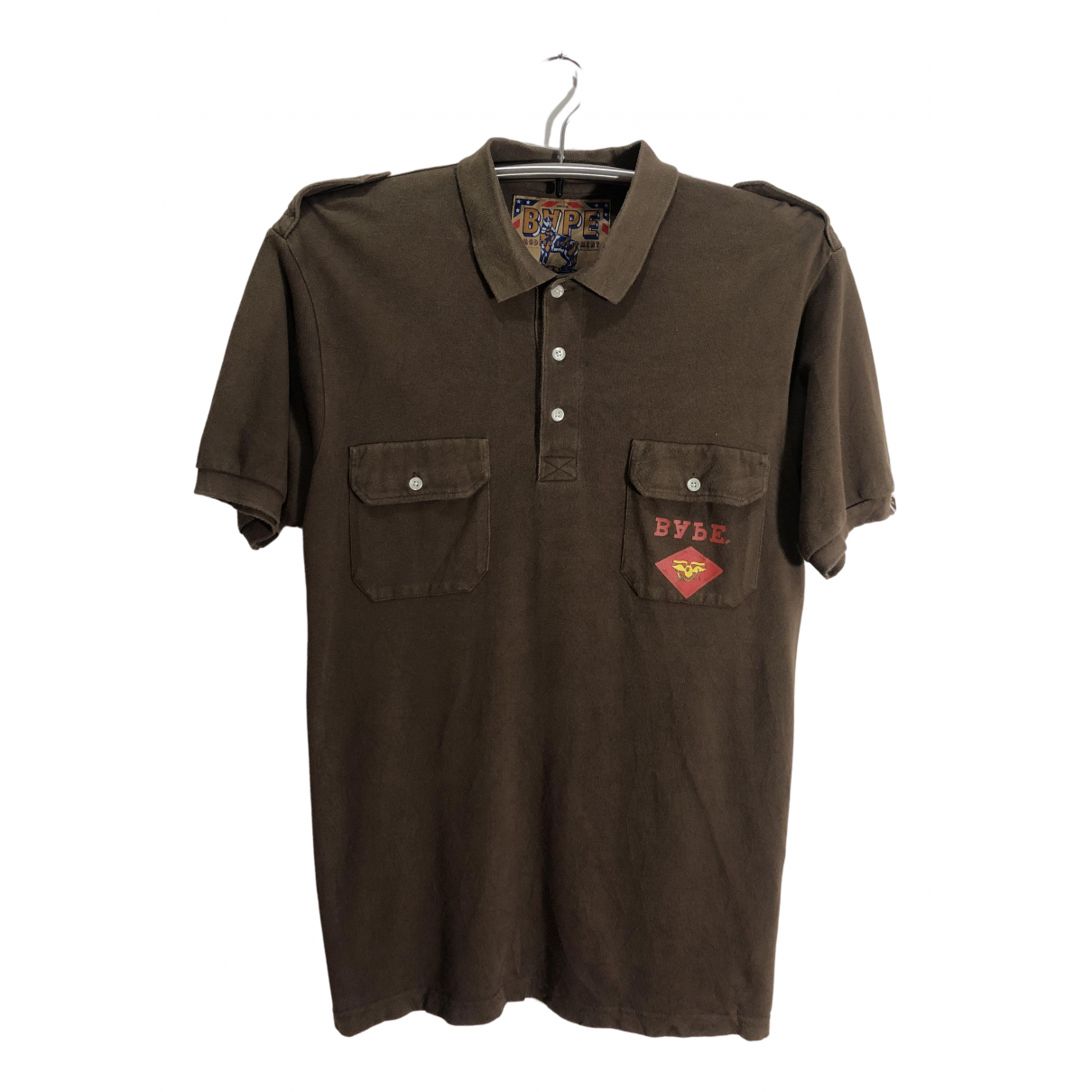 A Bathing Ape N Brown Cotton Polo shirts for Men L International