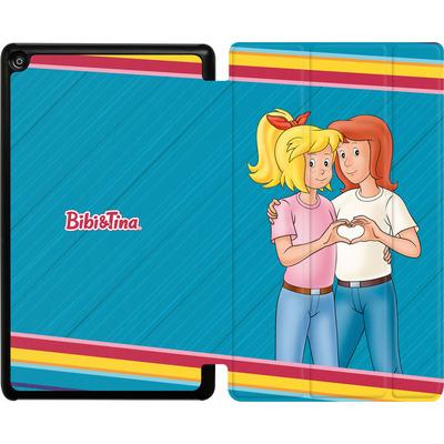 Amazon Fire HD 8 (2018) Tablet Smart Case - Bibi und Tina Regenbogen von Bibi & Tina