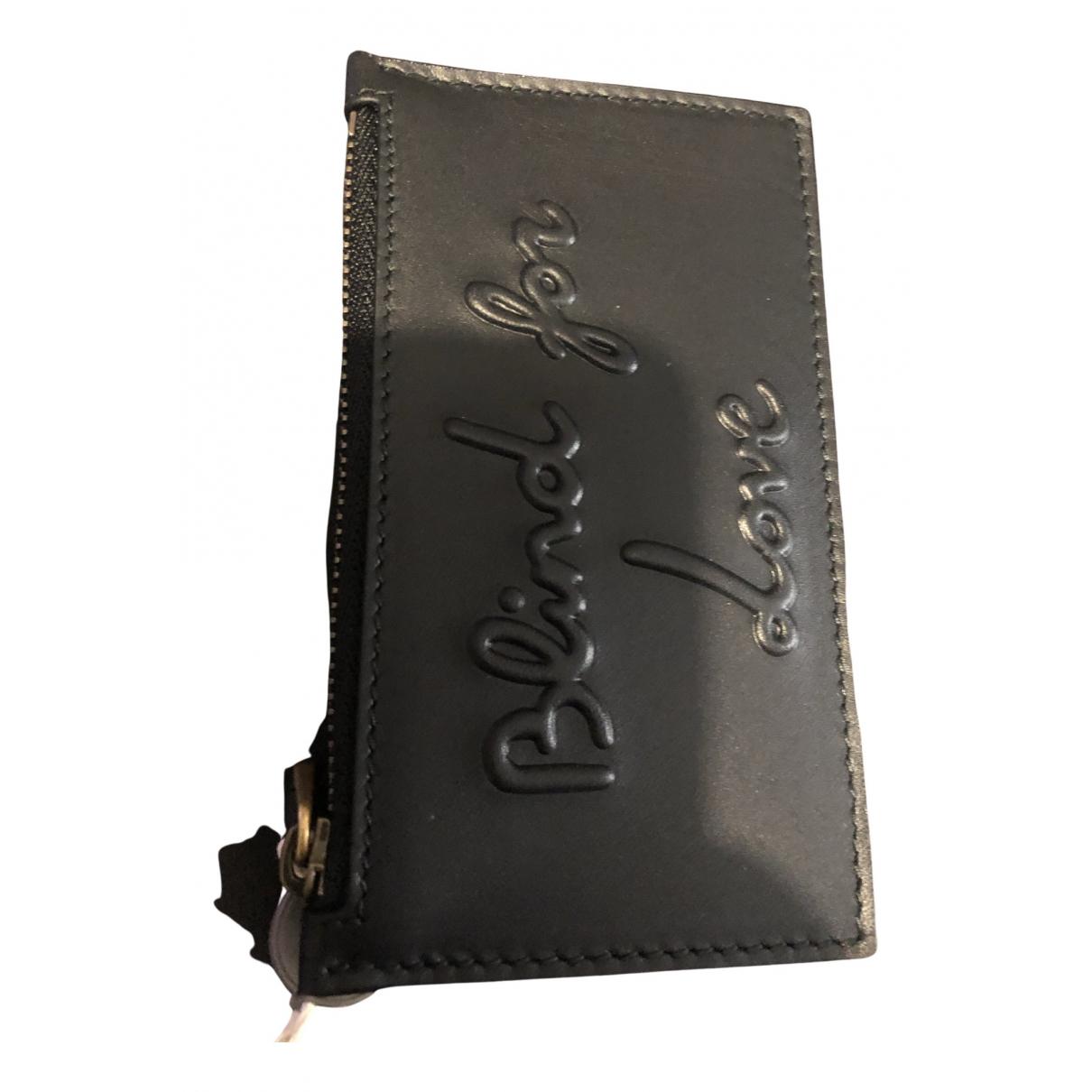 Gucci - Petite maroquinerie   pour femme en cuir - noir