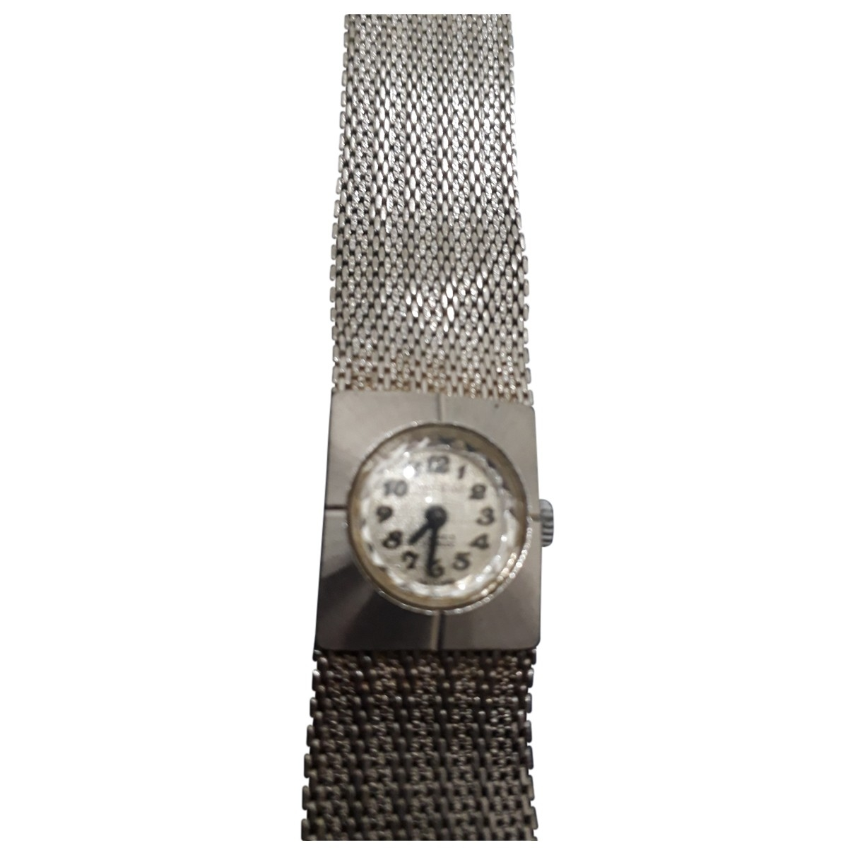 Non Signé / Unsigned \N Silver Gold plated watch for Women \N