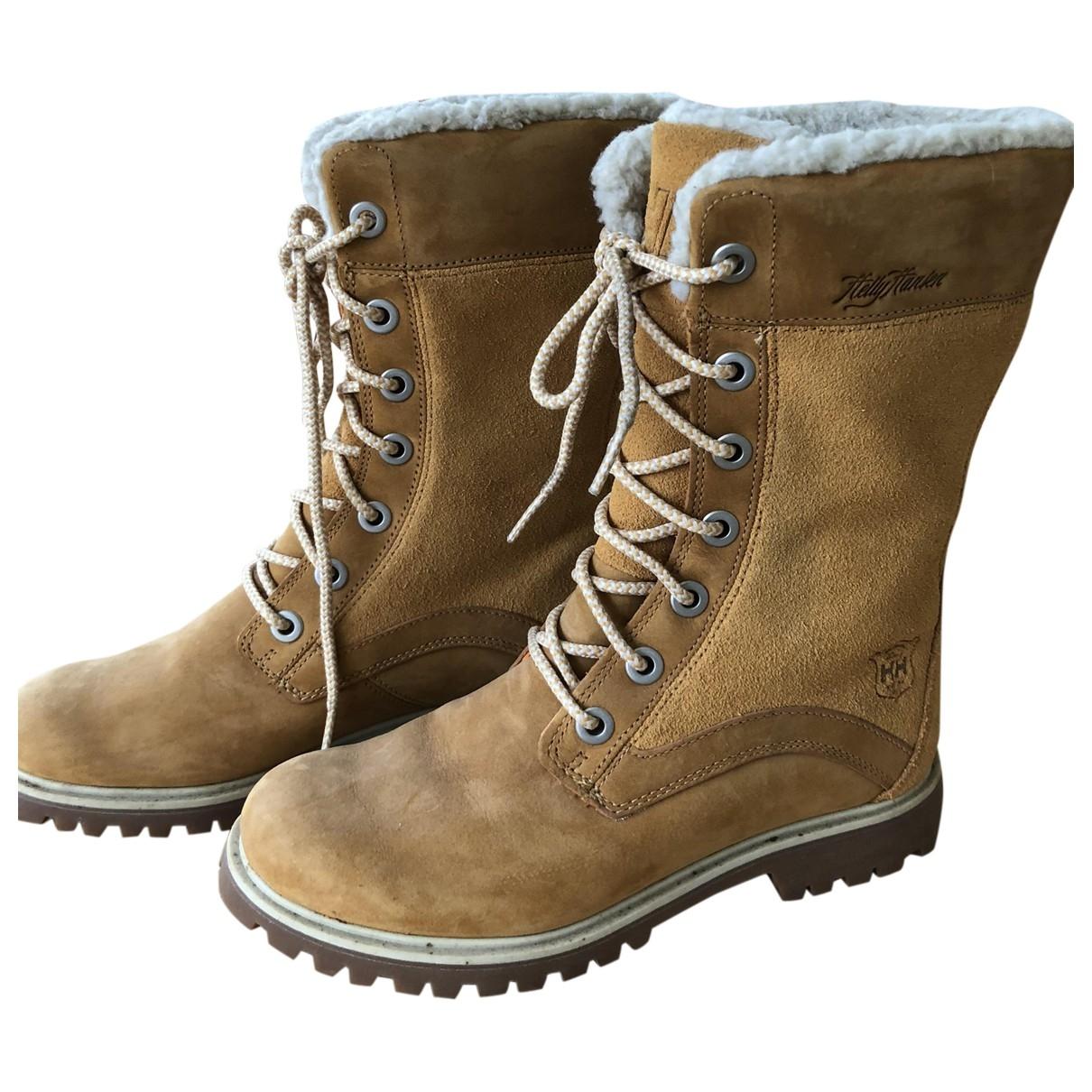Helly Hansen - Boots   pour femme en cuir - beige