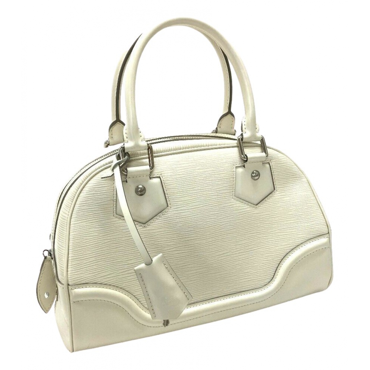 Louis Vuitton Montaigne Vintage  Handtasche in  Weiss Leder
