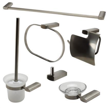 AB9503-BN Brushed Nickel 6 Piece Matching Bathroom Accessory