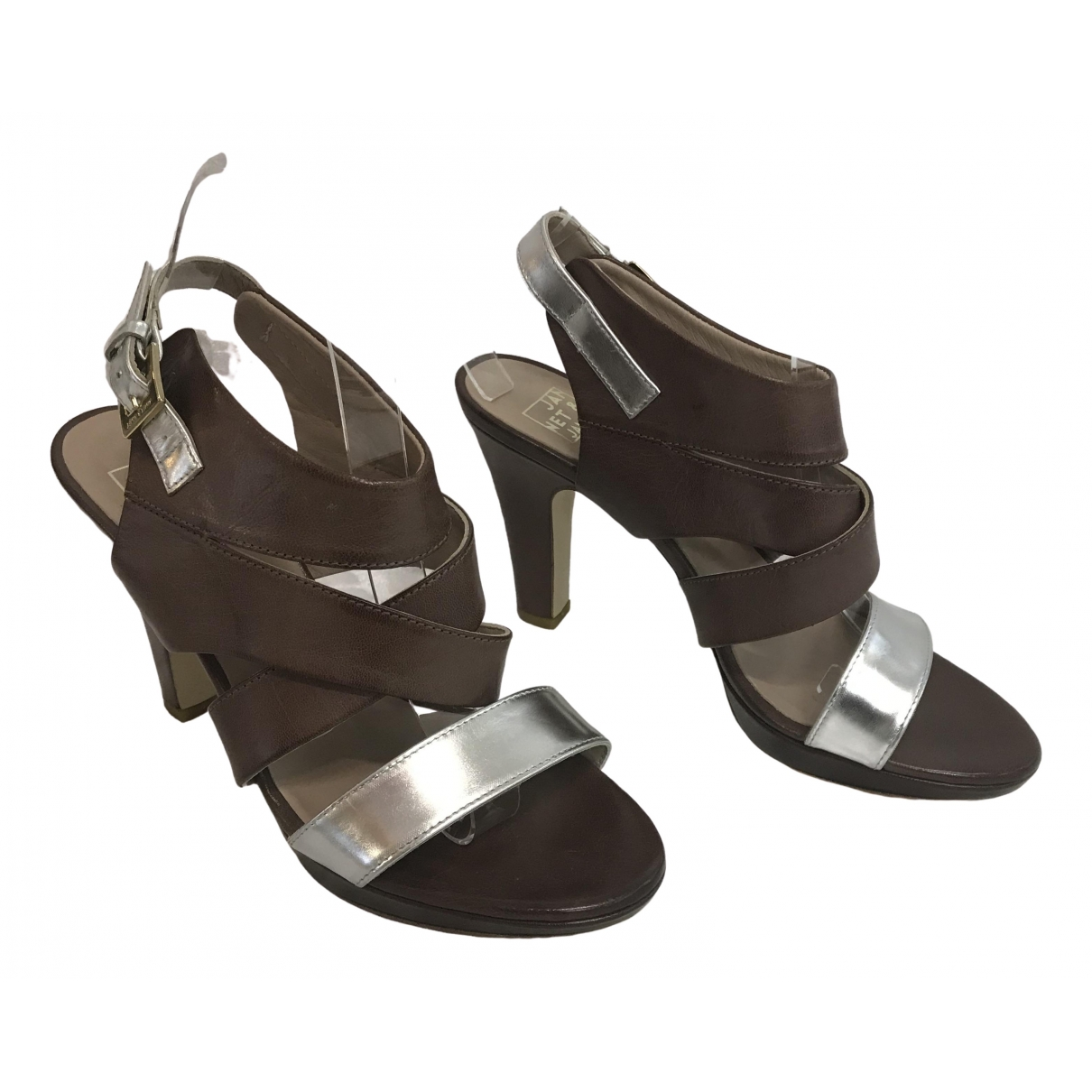 Janet & Janet \N Brown Leather Sandals for Women 40 EU