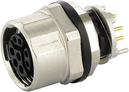 Murrelektronik Limited Murrelektronik Circular Connector, 8 contacts Bulkhead Mount M12 Socket, Solder IP67