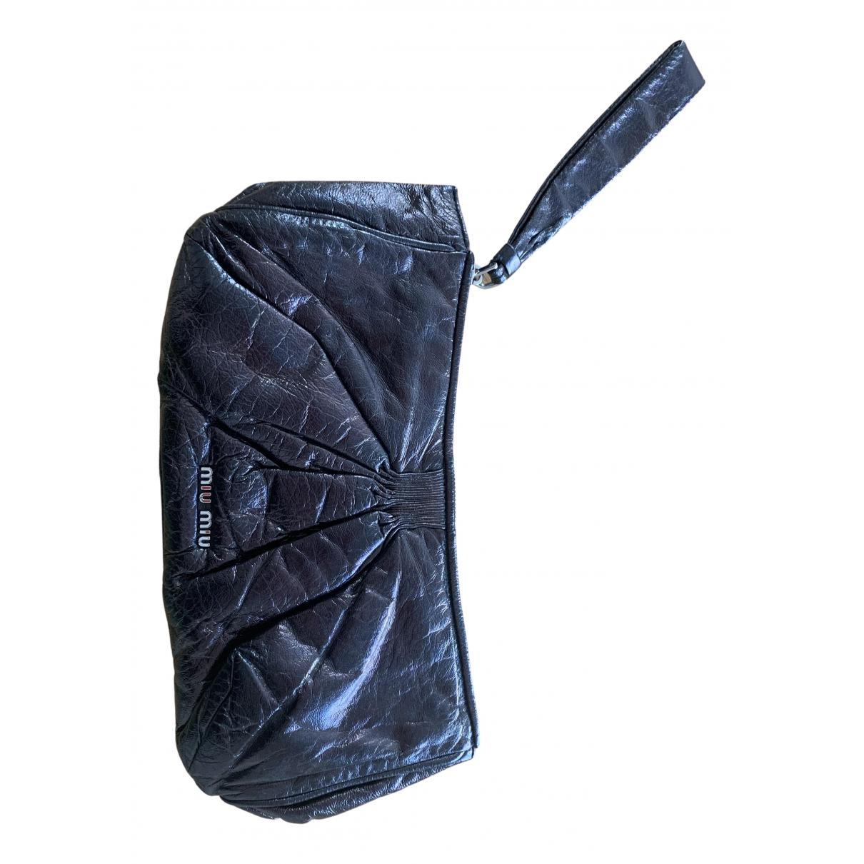 Miu Miu N Black Leather Clutch bag for Women N