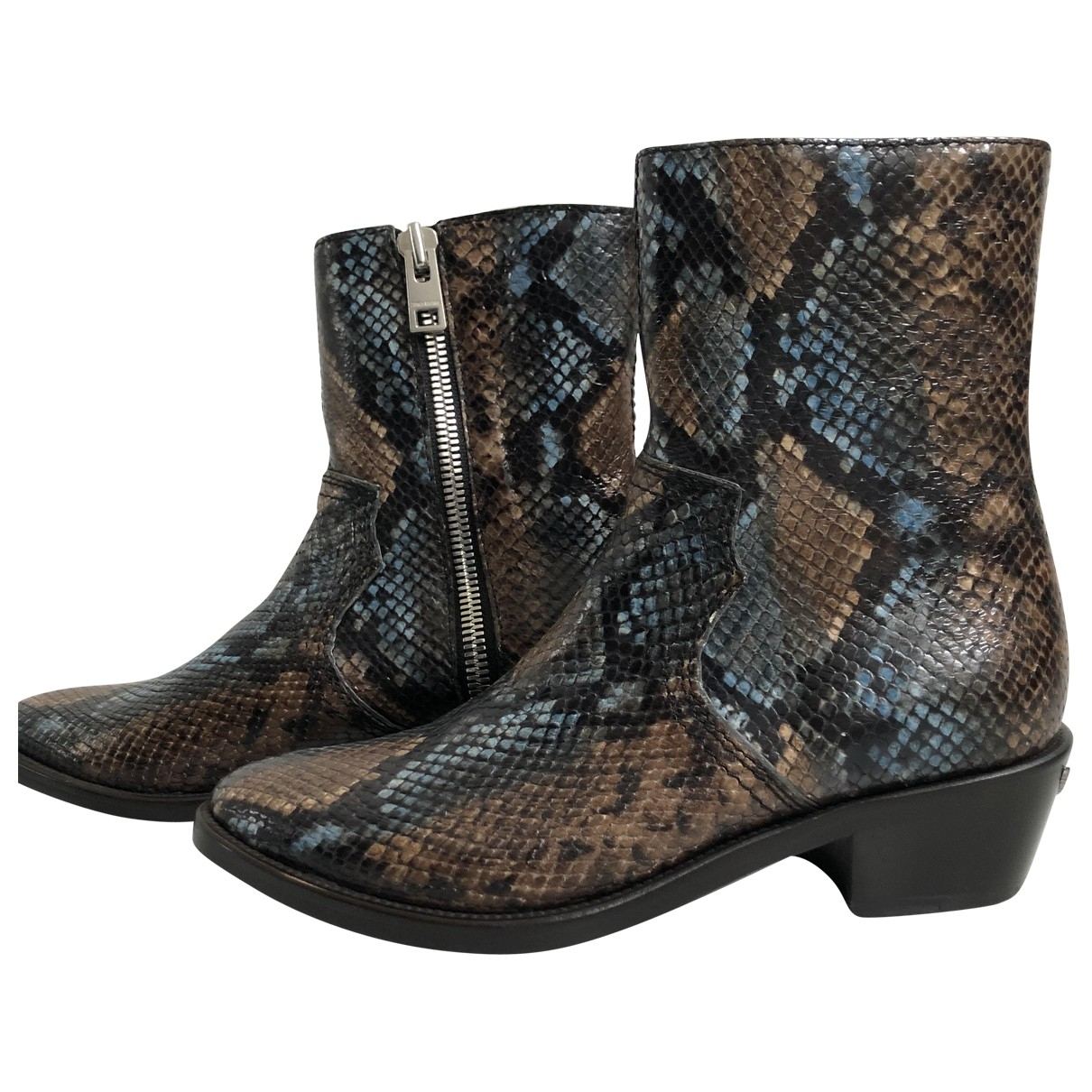 Zadig & Voltaire Pilar Brod Brown Leather Boots for Women 37 EU