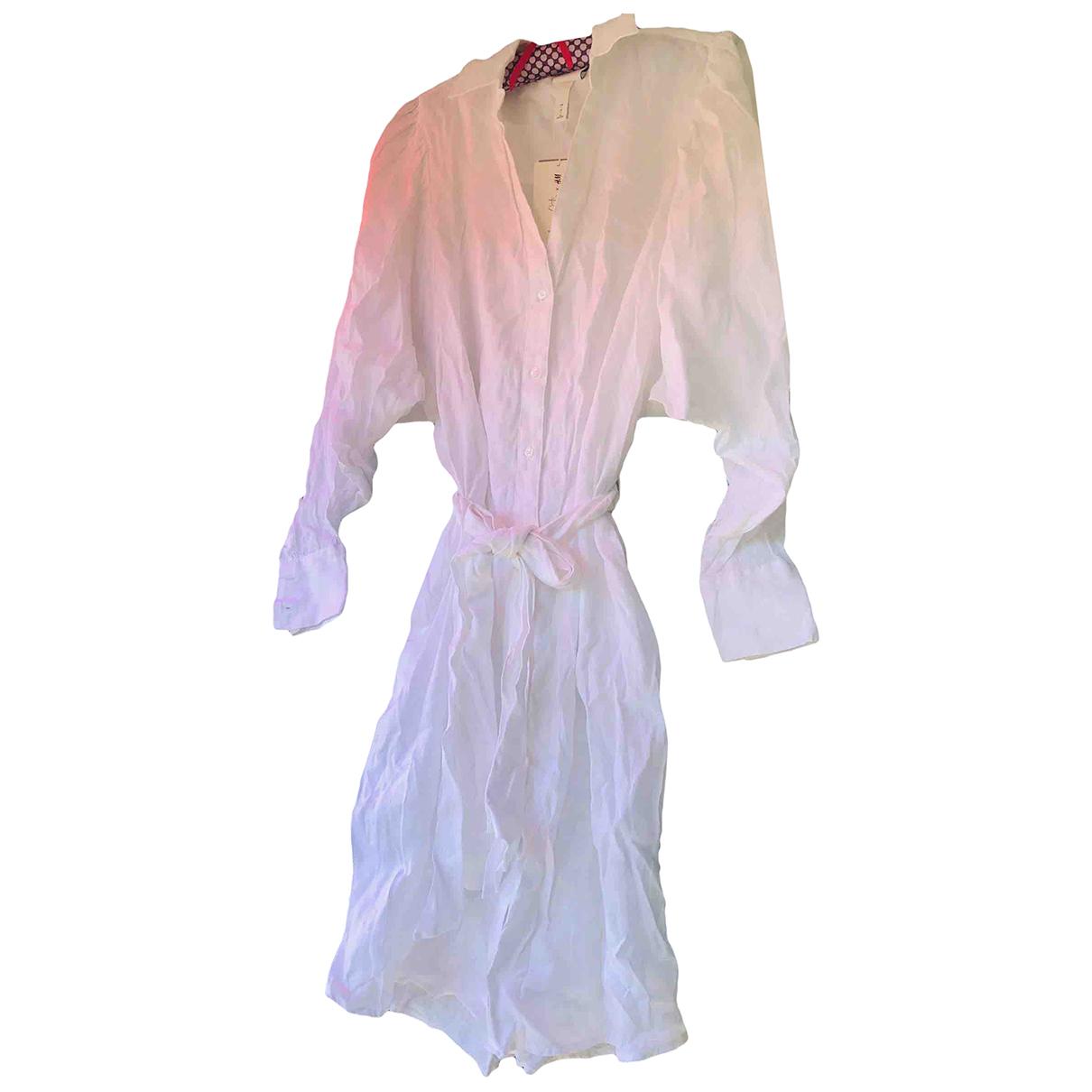 Johanna Ortiz X H&m \N White Linen dress for Women L International