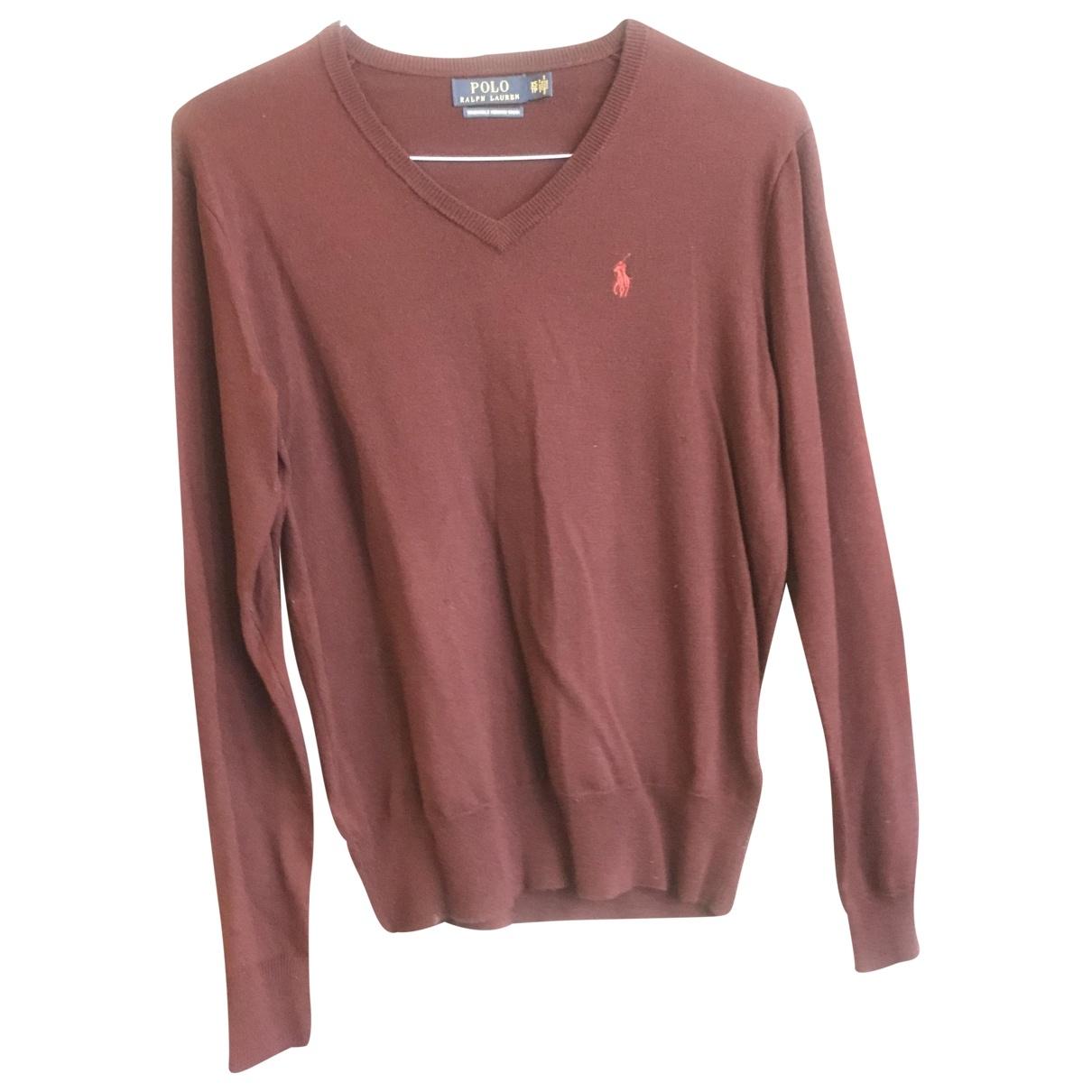 Polo Ralph Lauren \N Pullover.Westen.Sweatshirts  in  Bordeauxrot Wolle