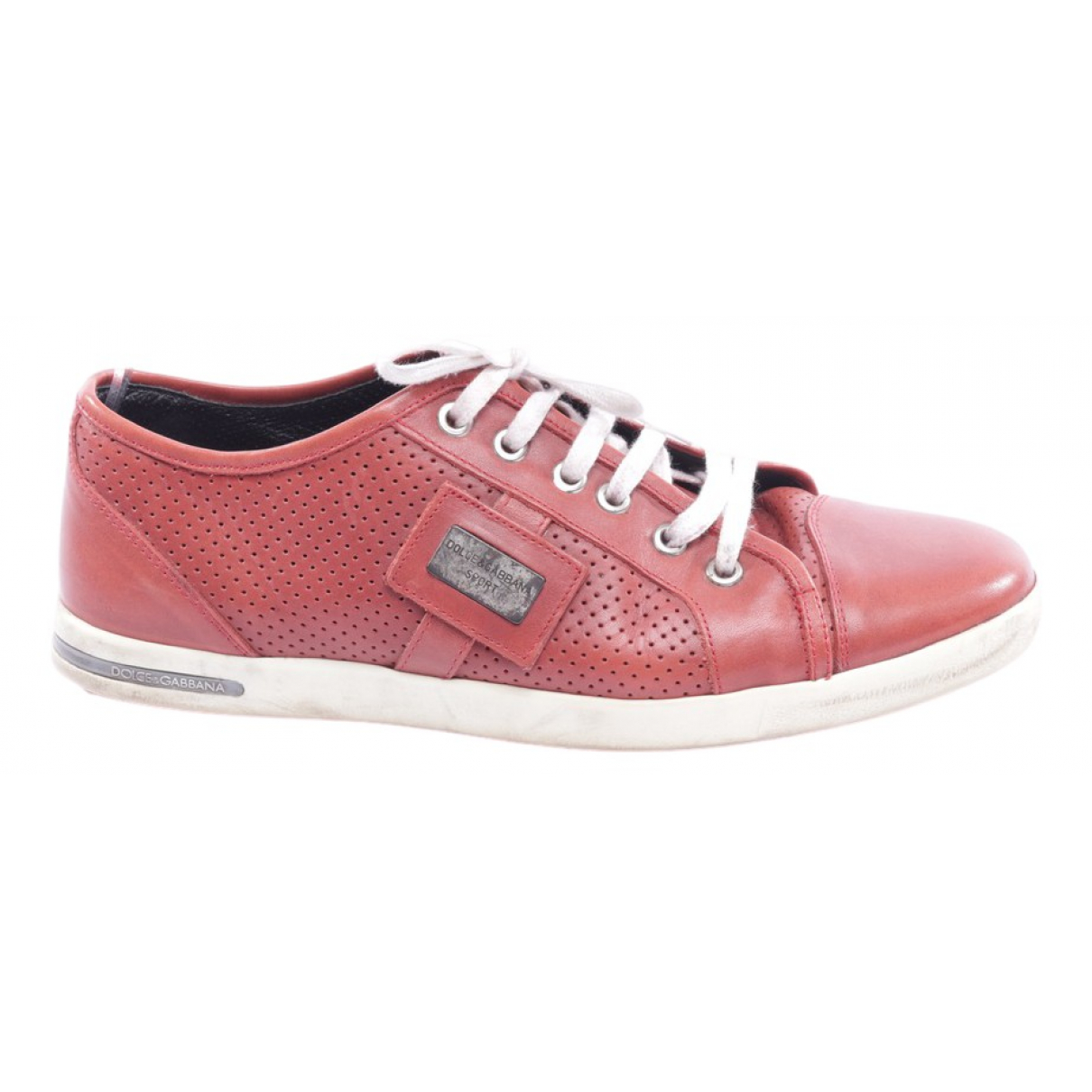 Dolce & Gabbana \N Brown Leather Trainers for Women 40 EU