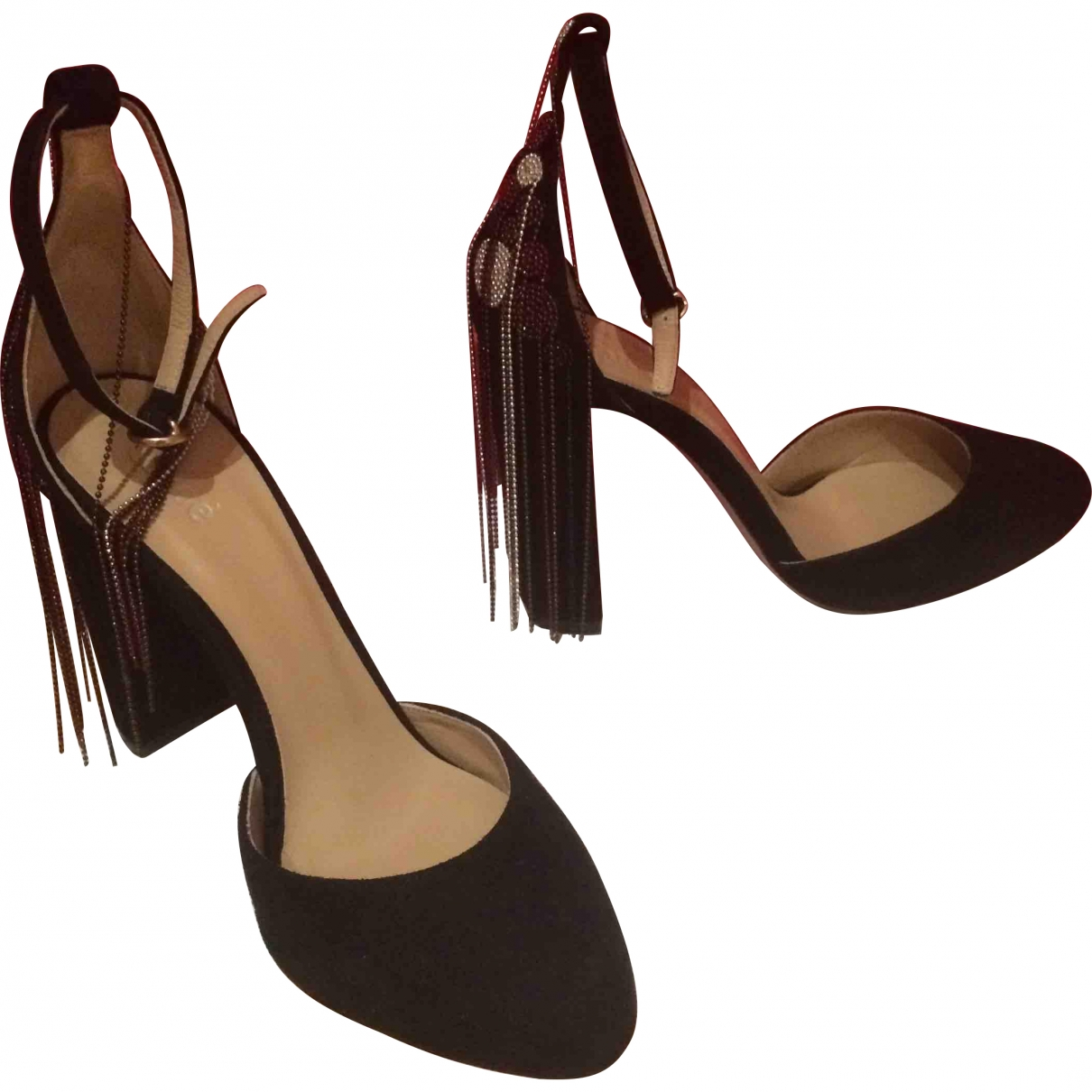 Chloé \N Black Suede Heels for Women 35.5 EU
