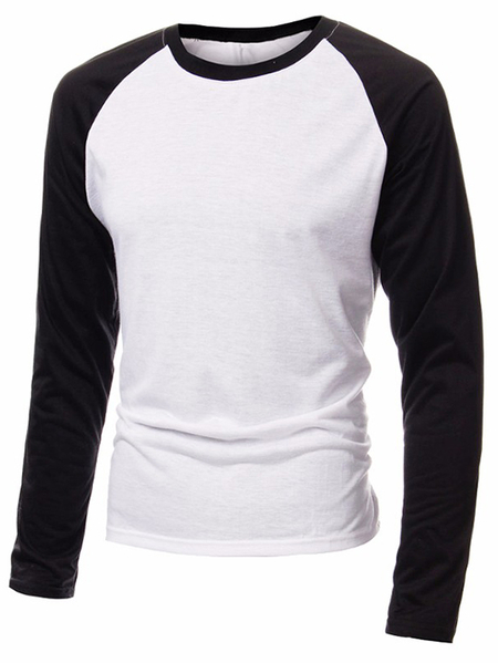 Yoins INCERUN Men Color Block Splice T-Shirt