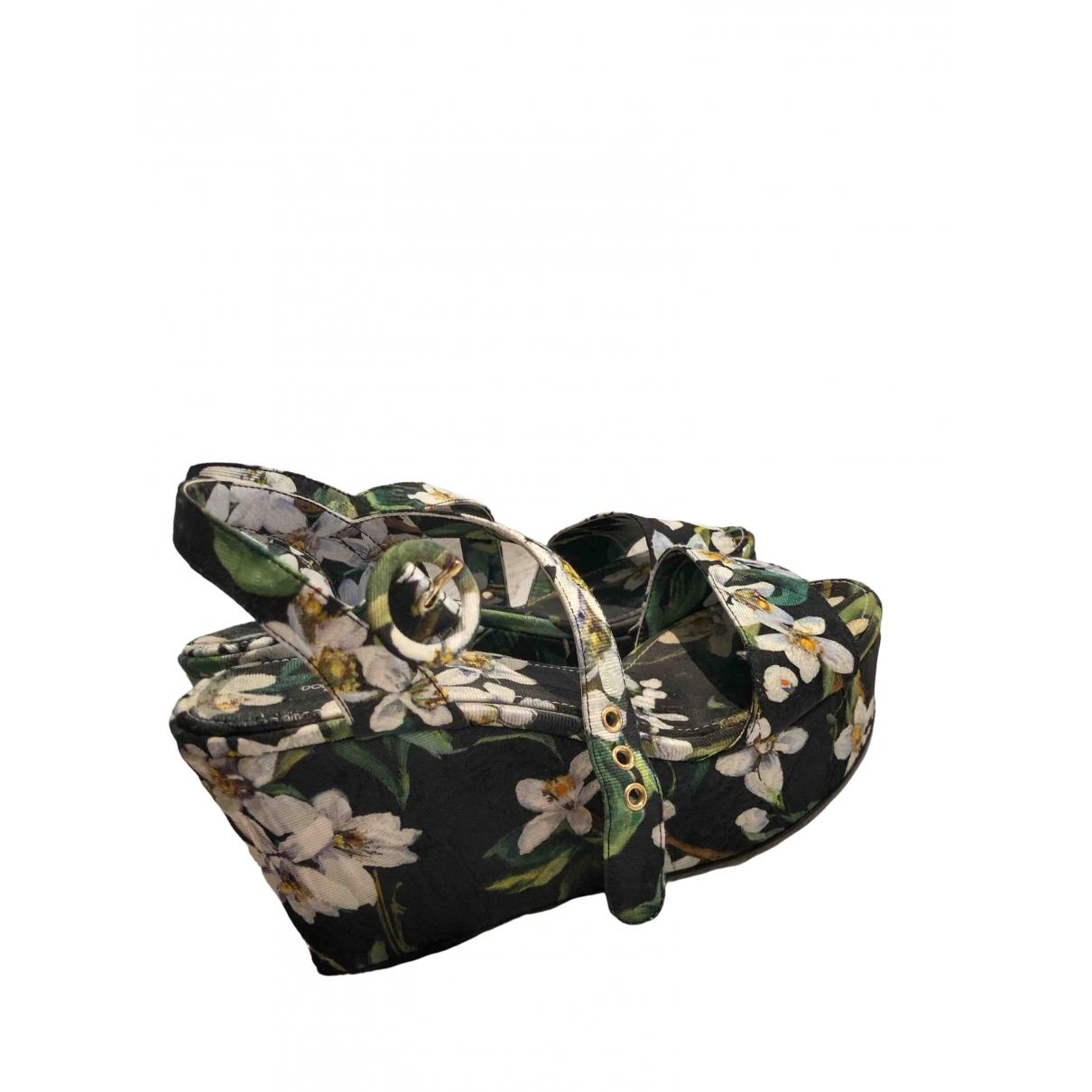 Dolce & Gabbana \N Sandalen in  Bunt Leinen