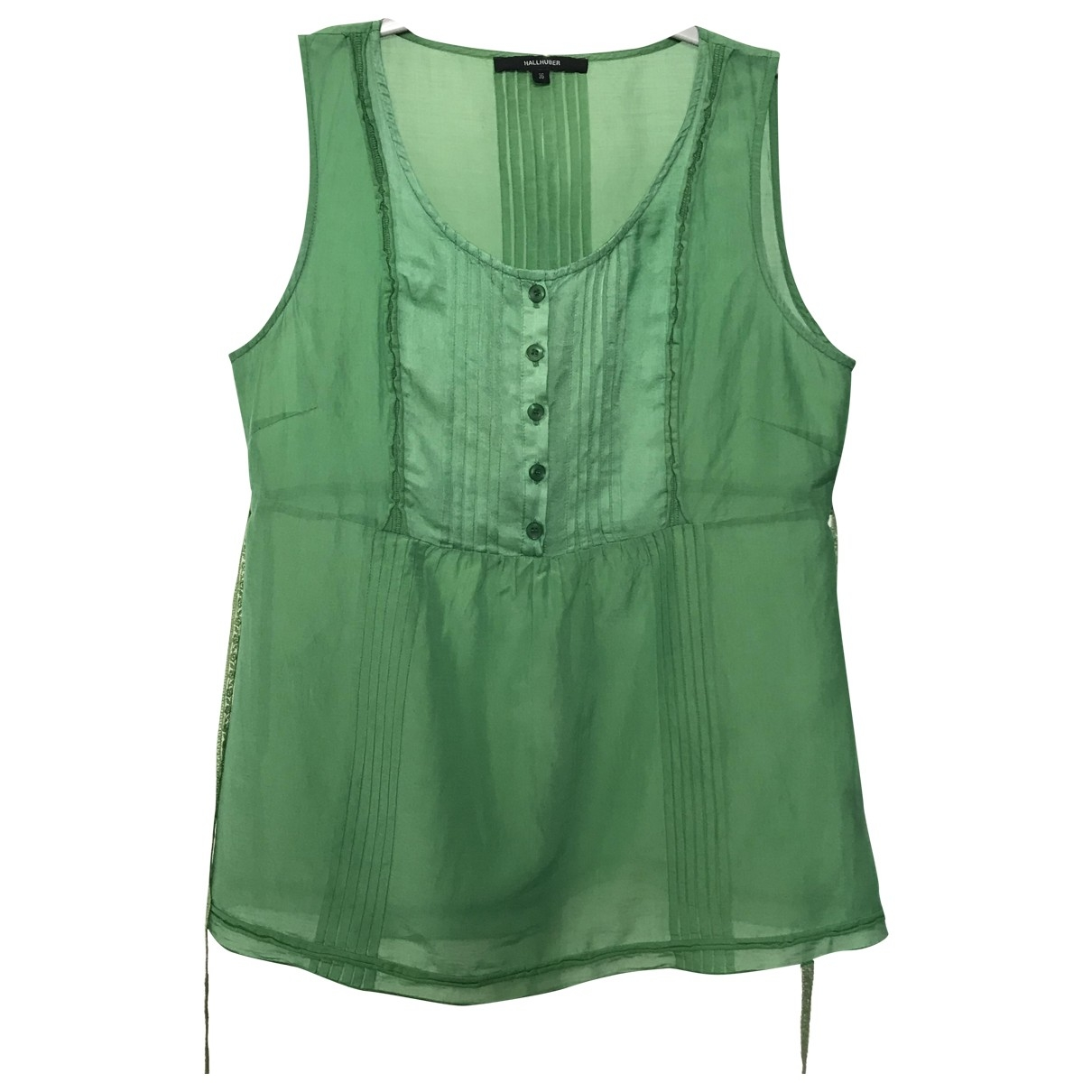 Hallhuber \N Green Cotton  top for Women 36 FR