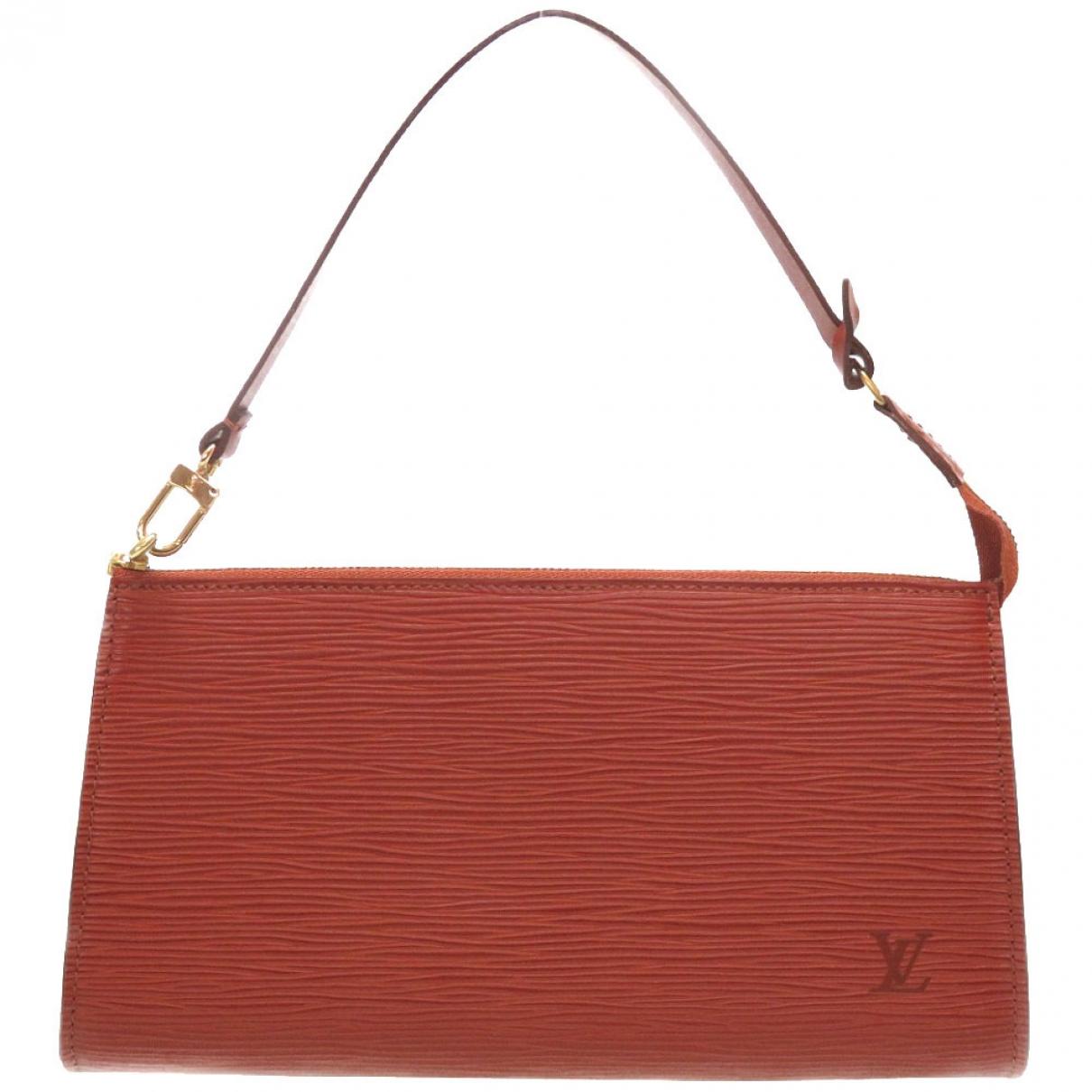 Louis Vuitton - Pochette Pochette Accessoire pour femme en cuir - marron
