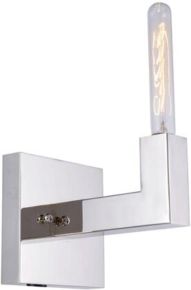 1525W6PN 1525 Corsica Collection Wall Sconce D:6In H:6In E:8In Lt:1 Polished Nickel