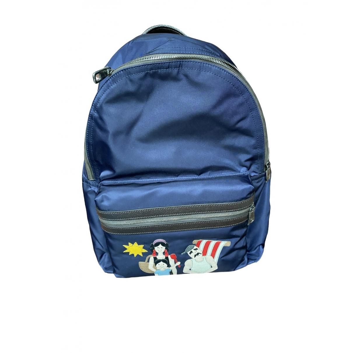 Dolce & Gabbana \N Blue Cloth backpack for Women \N