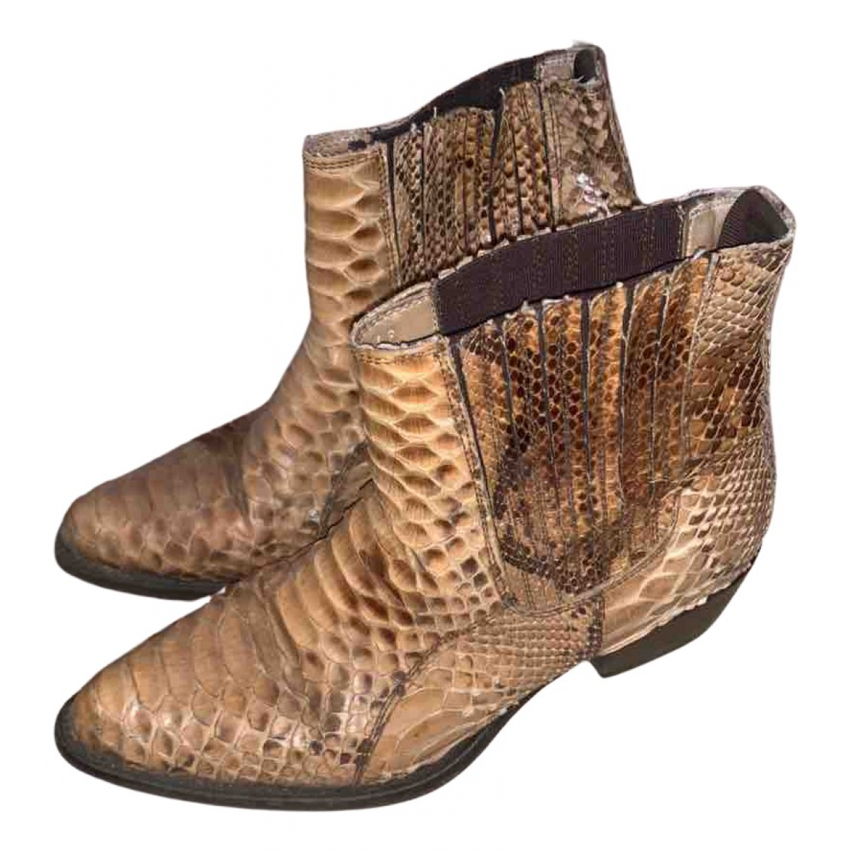 American Vintage - Boots   pour femme en serpent deau