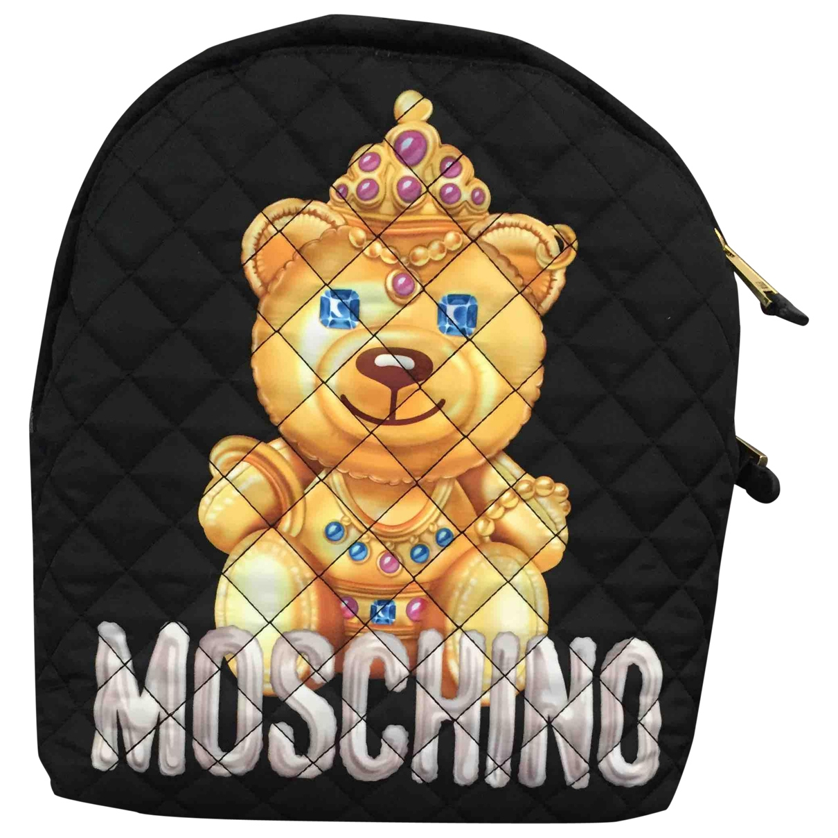 Moschino \N Black Cotton backpack for Women \N