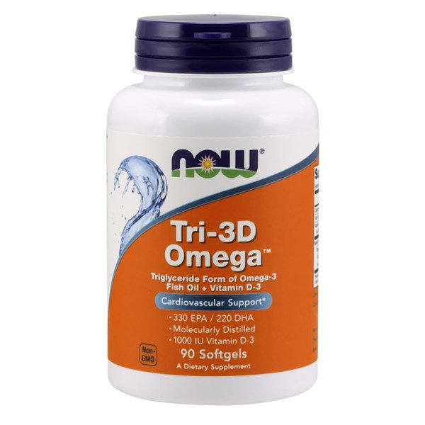 Tri 3D Omega 90 sgels by Now Foods