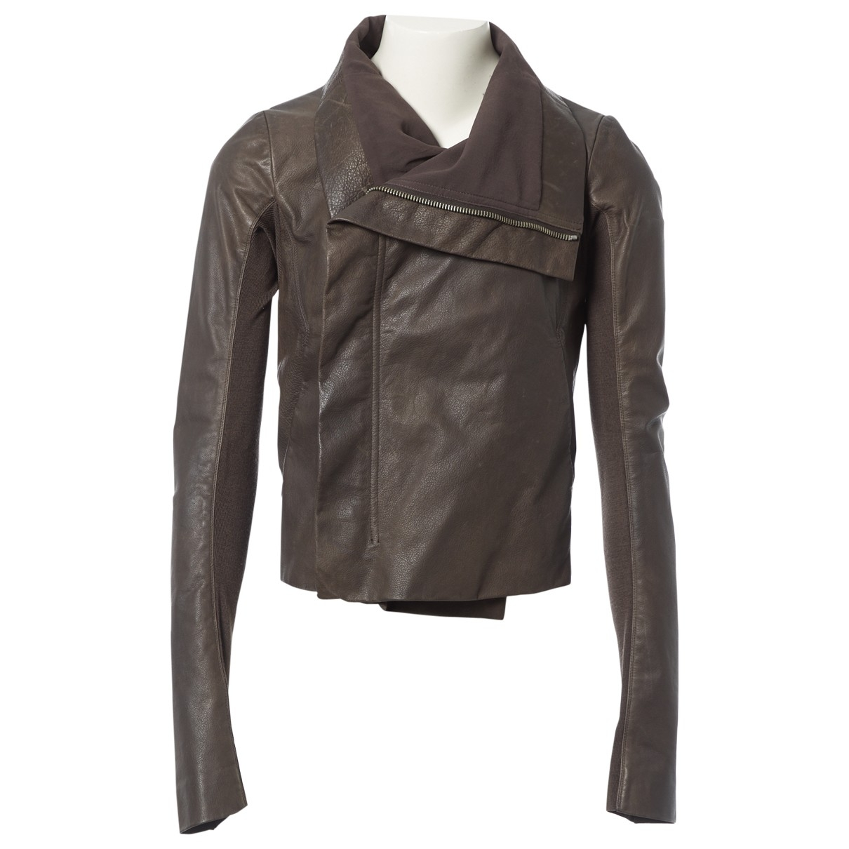 Rick Owens \N Brown Leather jacket for Women 40 IT