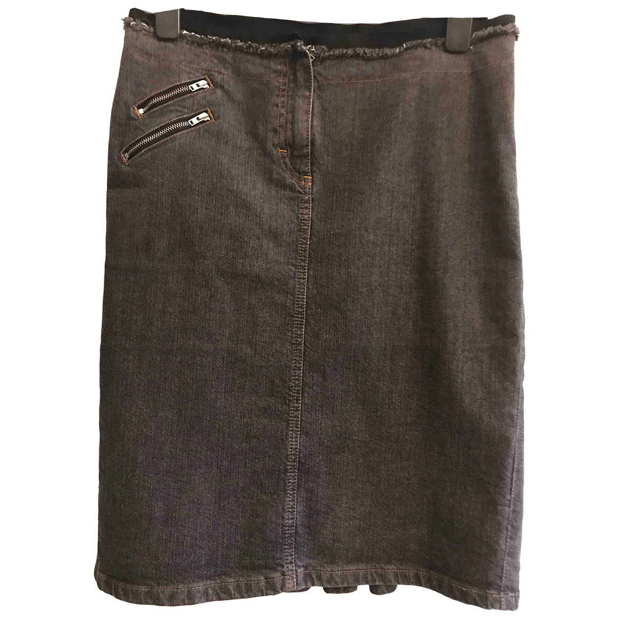 Blumarine \N Grey Denim - Jeans skirt for Women 42 IT