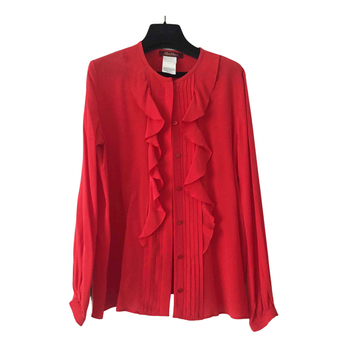 Max Mara \N Top in  Rot Seide