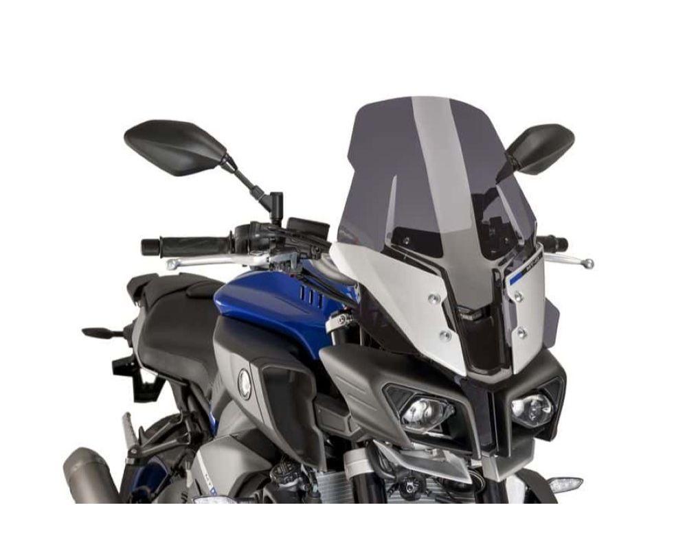 Puig 8918F Touring Plus Windscreen - Dark Smoke Yamaha MT-10 SP 2017
