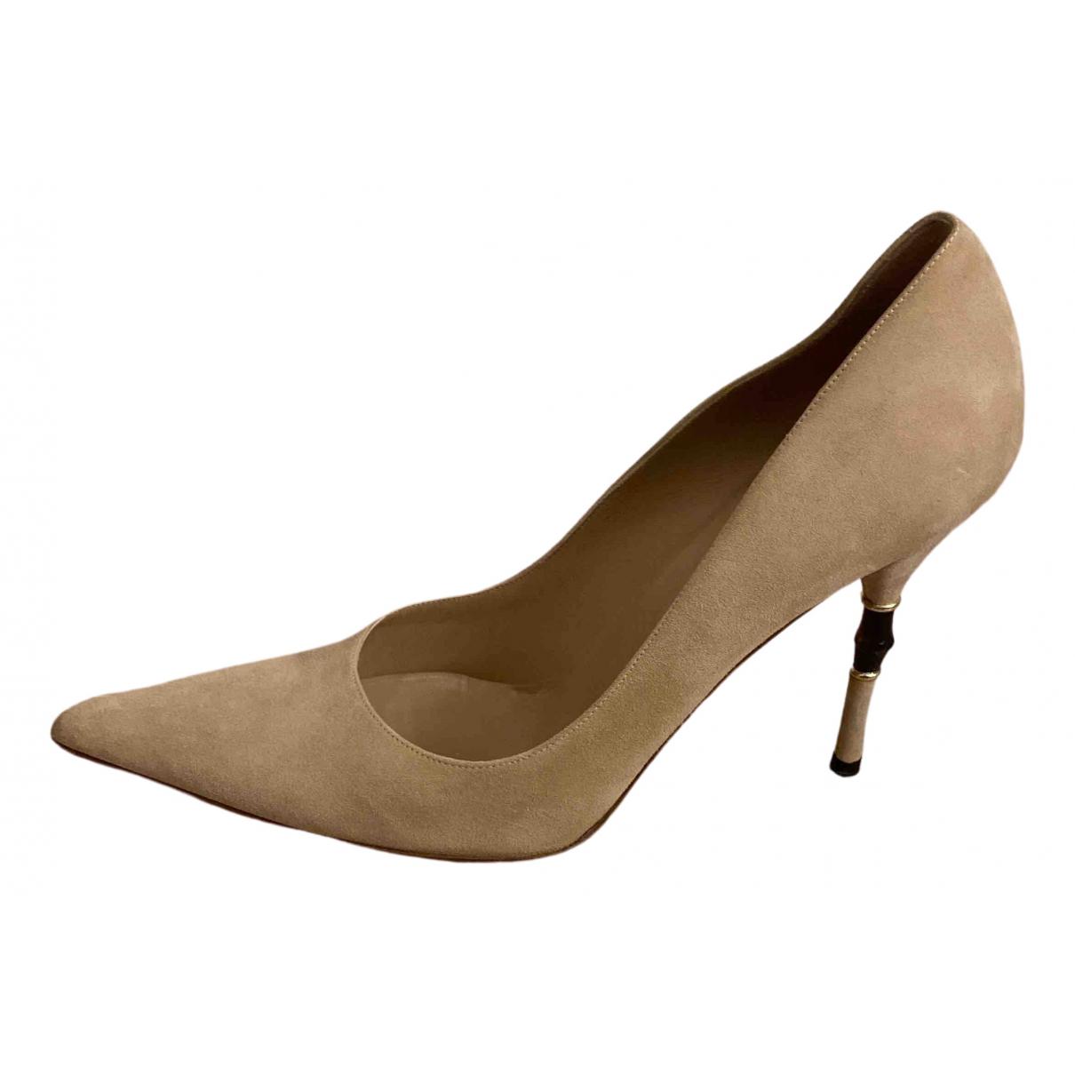 Gucci \N Beige Suede Heels for Women 41.5 EU