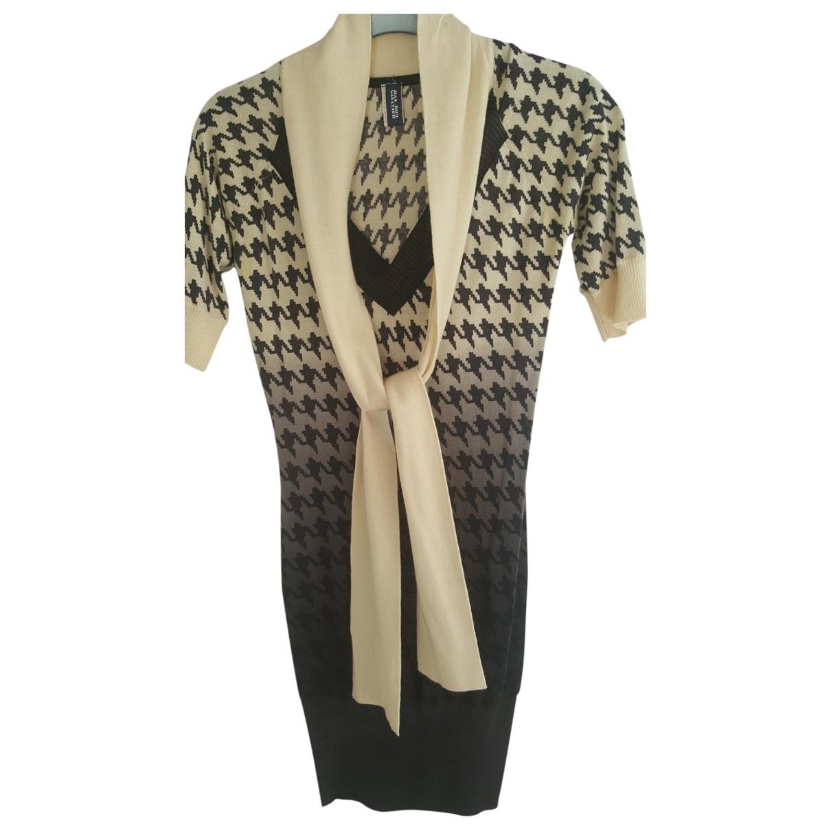 Jean Paul Gaultier \N Kleid in  Schwarz Kaschmir