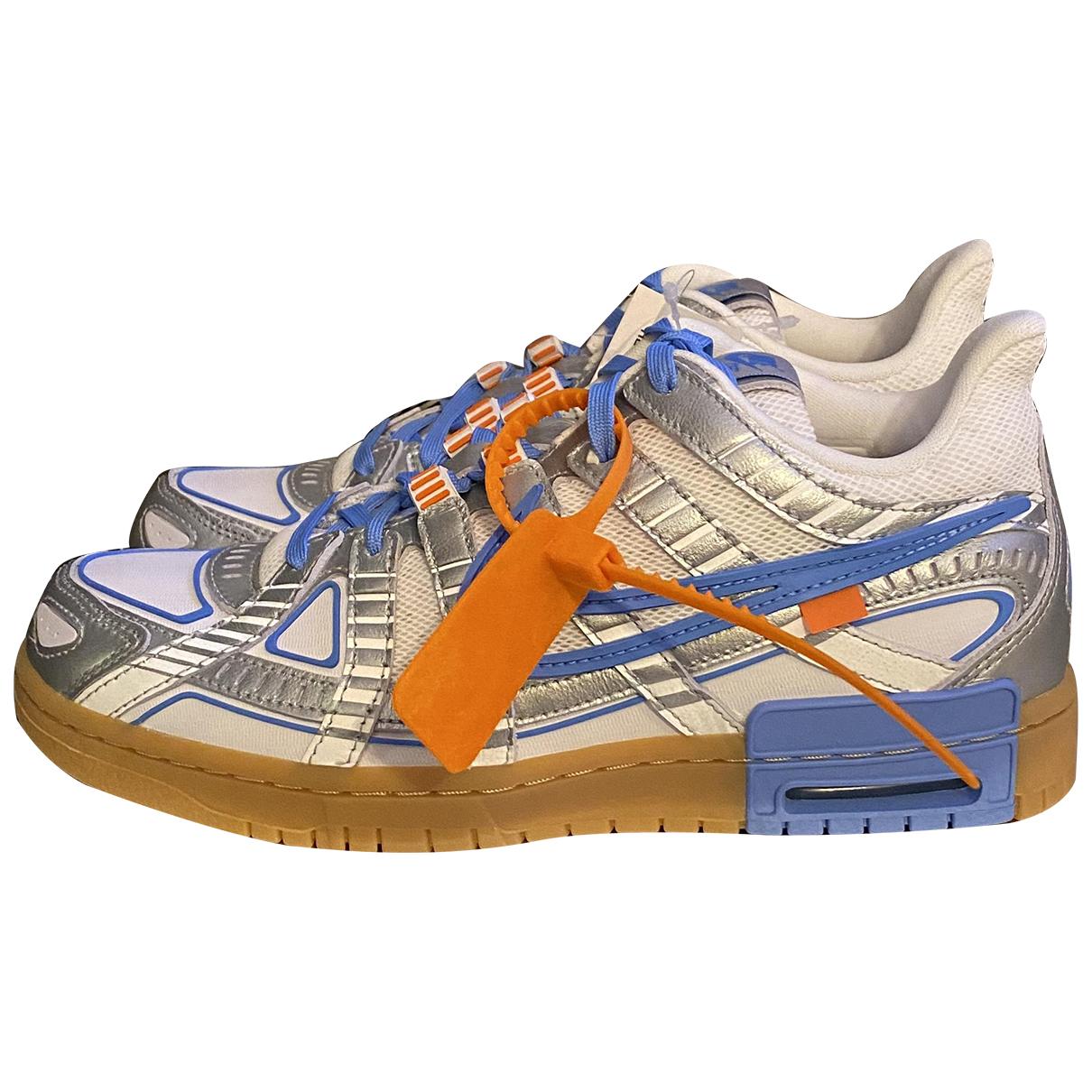 Nike X Off-white Rubber Dunk Sneakers in  Blau Leder