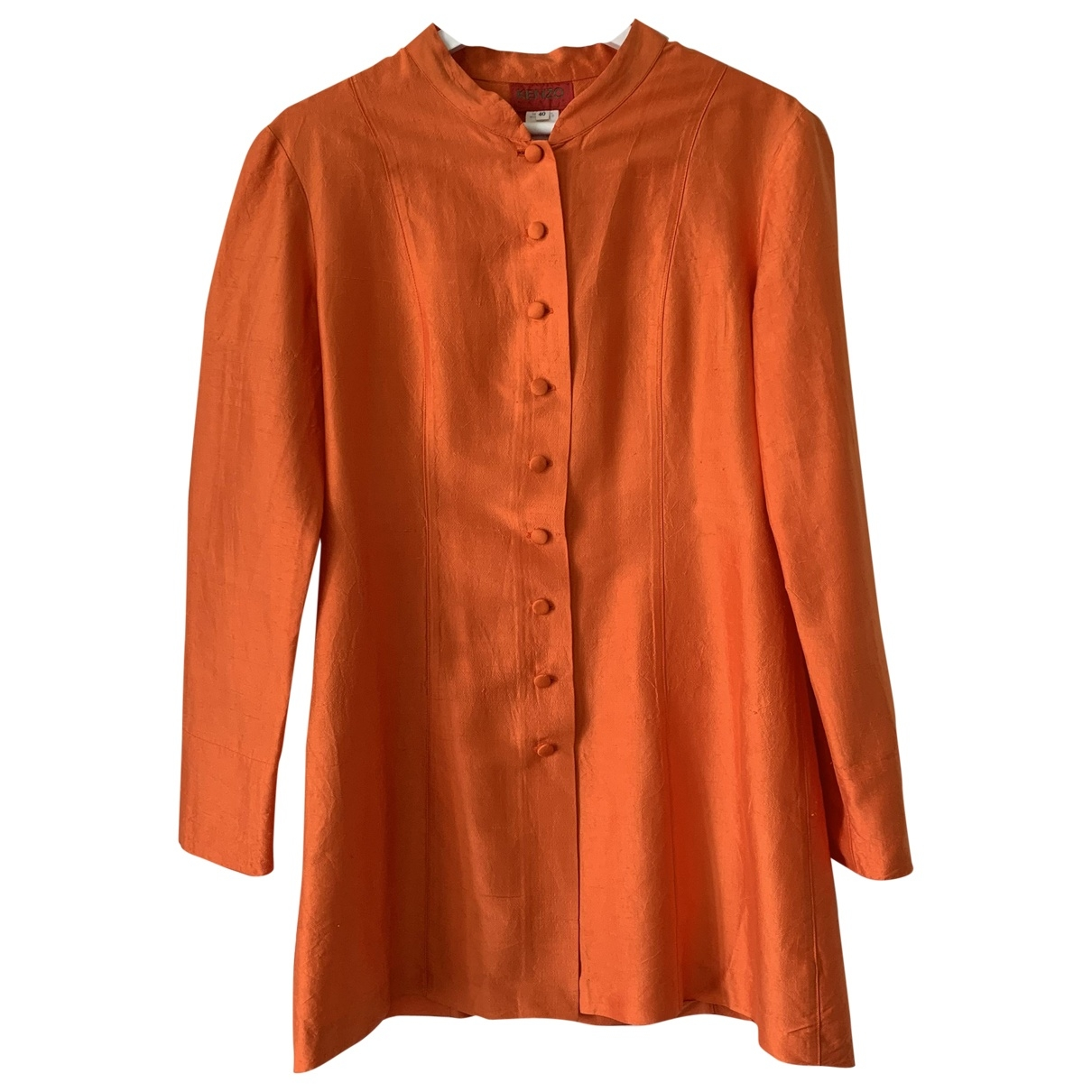 Kenzo \N Jacke in  Orange Seide