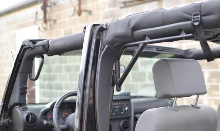 Steinjager J0041258 Grab Handle Kit Wrangler JK 2007-2018 Rigid Design Front and Rear for 4 Door JKU Texturized Black
