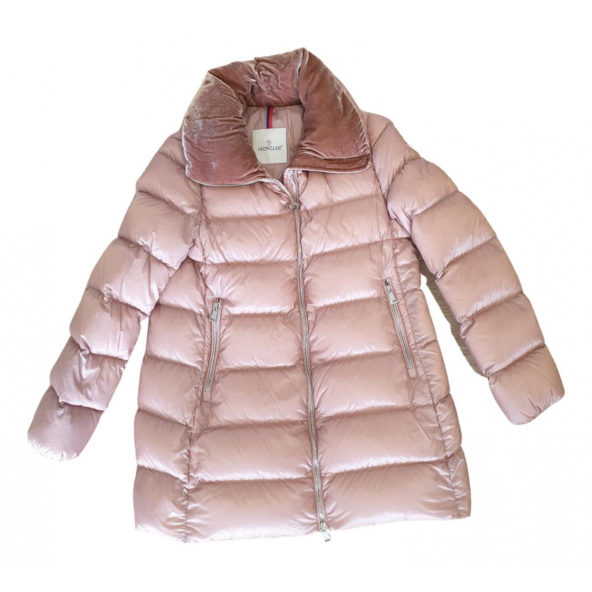 Moncler Long Pink Silk coat for Women 1 0-5