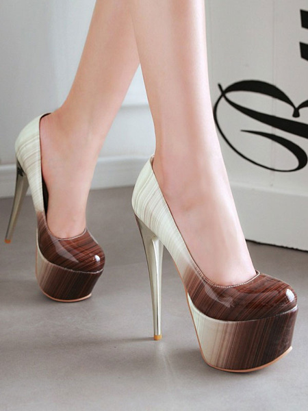 Milanoo Women Sexy High Heels Green Round Toe Sexy Shoes
