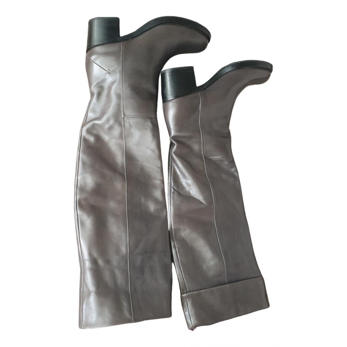 Costume National \N Stiefel in  Grau Leder