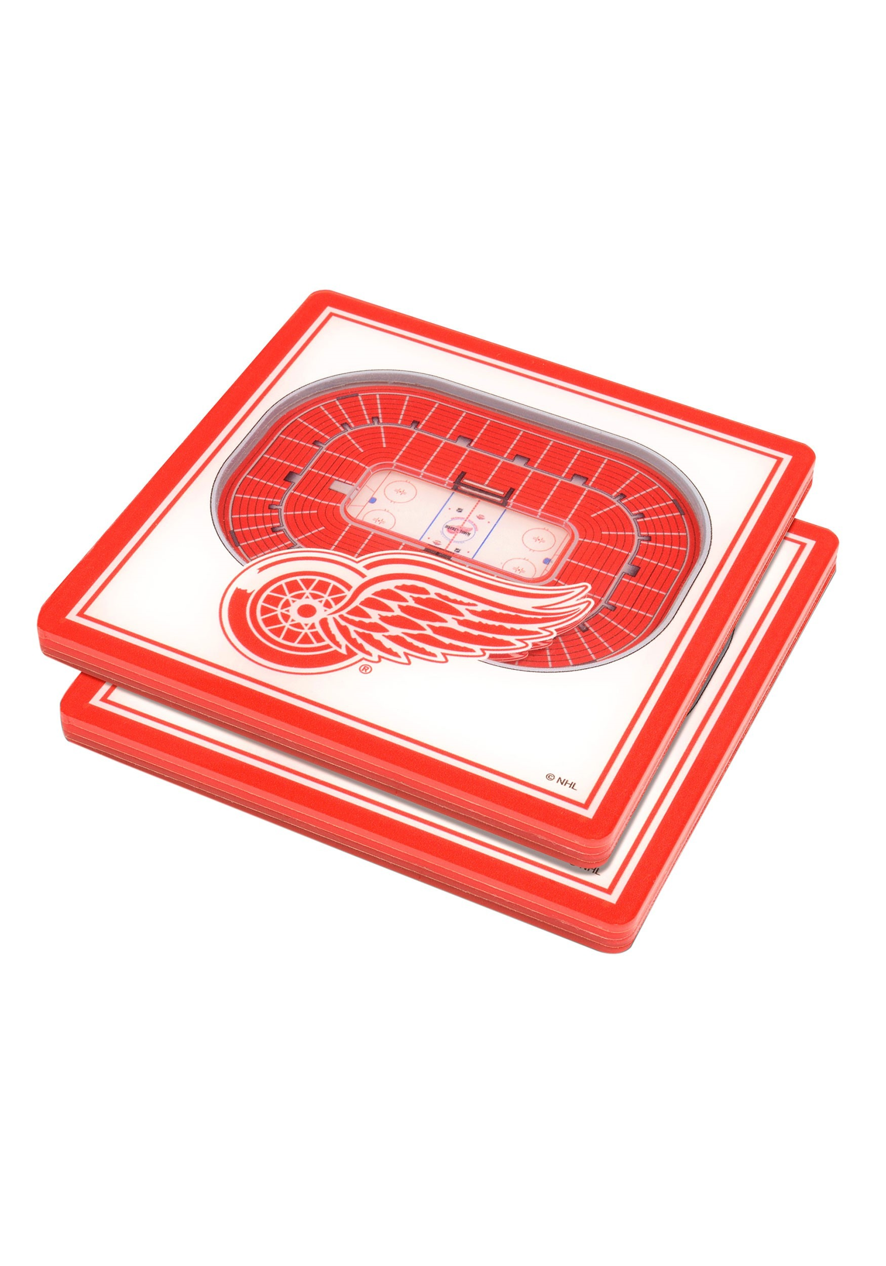 NHL Detroit Red Wings 3D Stadium Coasters