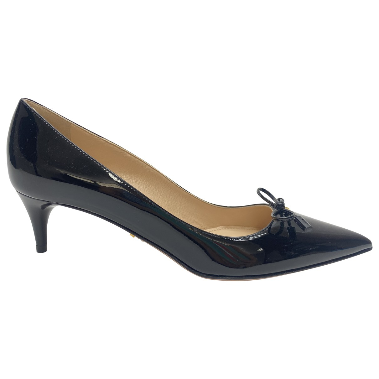 Prada \N Black Patent leather Heels for Women 36.5 IT
