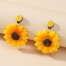 Ohrringe mit Sonnenblumen Dekor