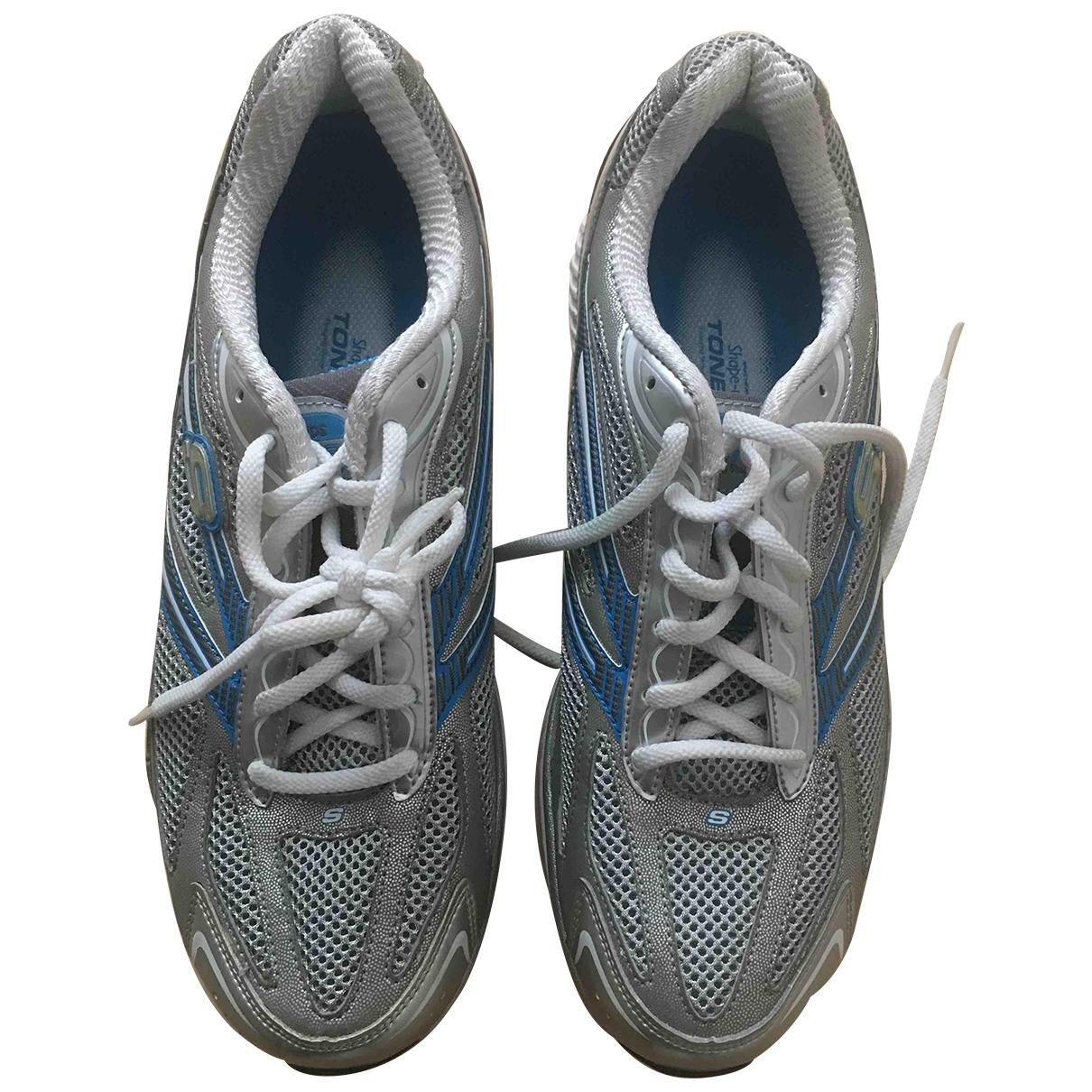 Skechers - Baskets   pour femme en toile - gris
