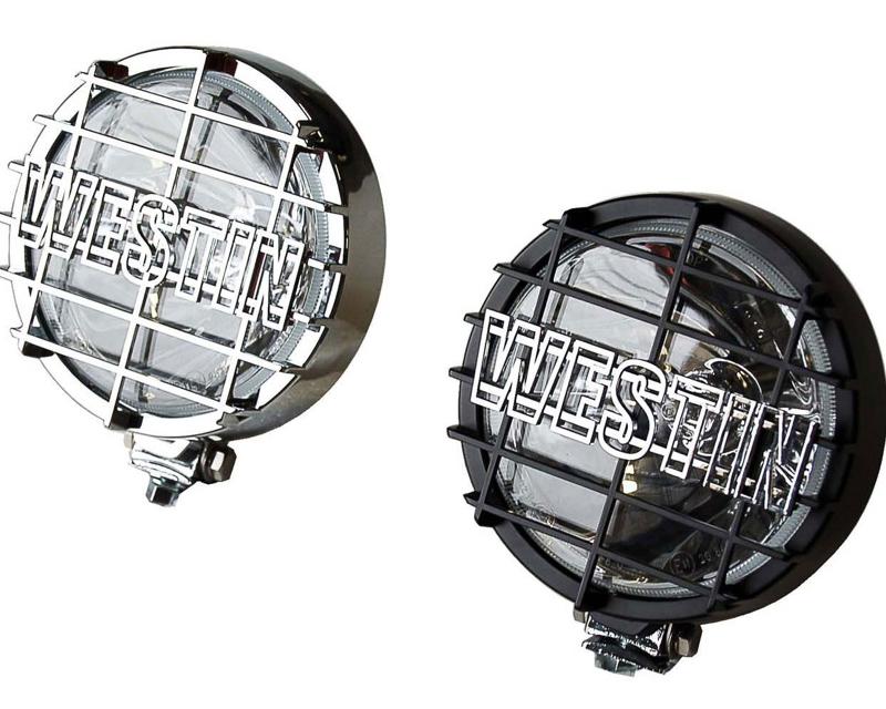 Westin Automotive 09-0505 Lights|6-Inch Quartz-Halogen Off-Road Lights with Grid Black Set Of Two Black Universal