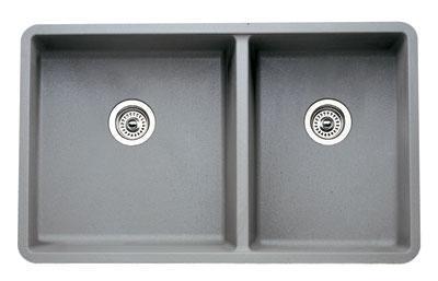 441130 Precis Silgranit 1-3/4 Bowl Undermount Kitchen Sink In Metallic