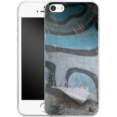 Apple iPhone 5 Silikon Handyhuelle - Texture Pacificwall von Brent Williams