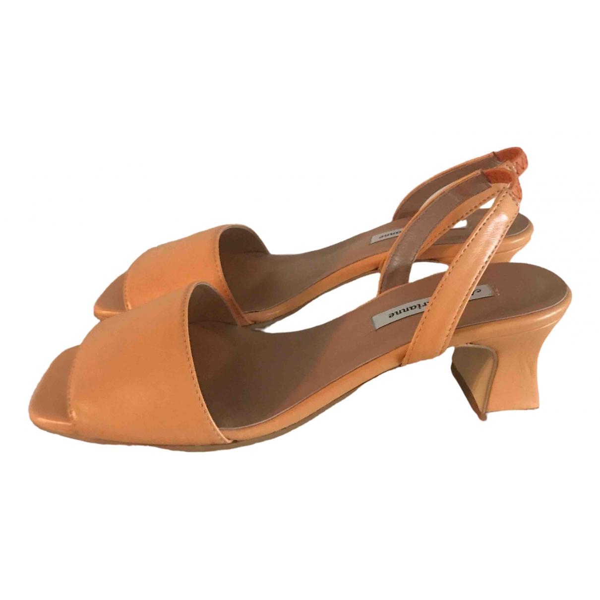 About Arianne - Sandales   pour femme en cuir - orange